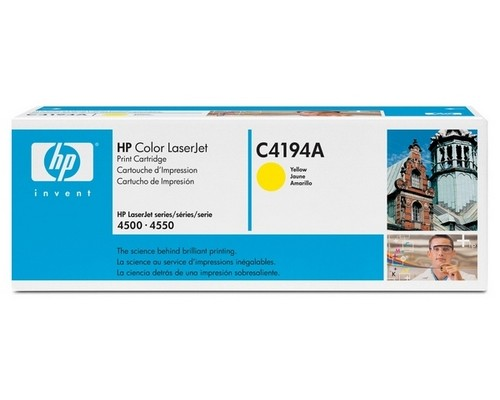 Картридж HP C4194A желтый для принтера HP Color LaserJet 4500