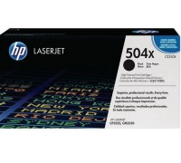 Картридж HP CE250X черный для принтера HP Color LaserJet CP3525/ CM3530
